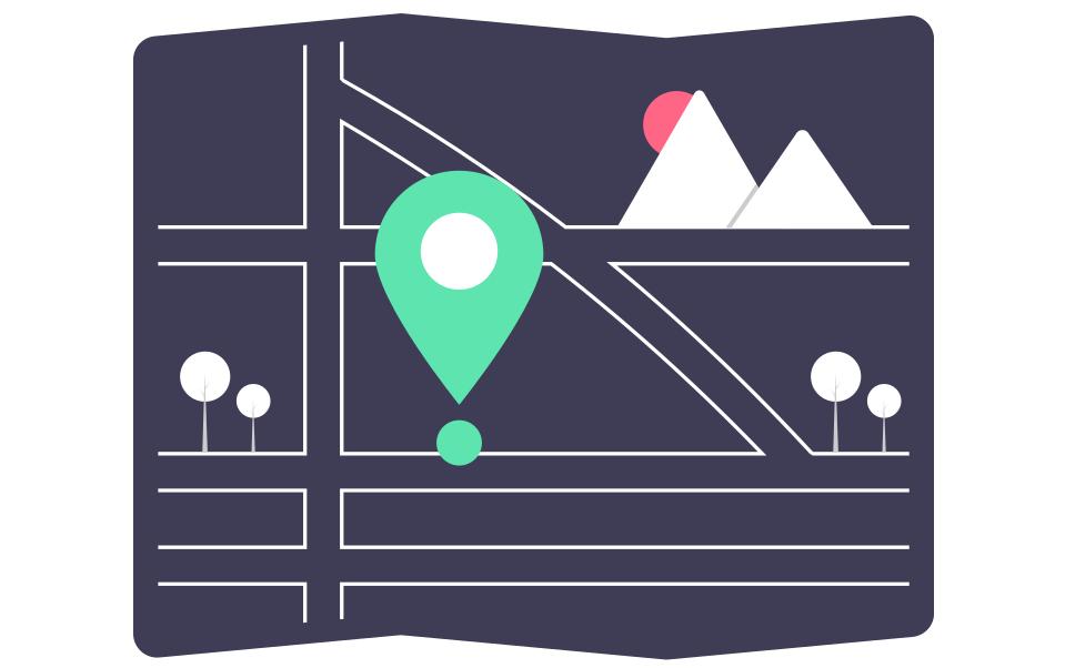 Wie kann man in Google Maps ein Ortslabel hinzufügen?