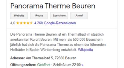 Redaktionelle Zusammenfassung Google My Business