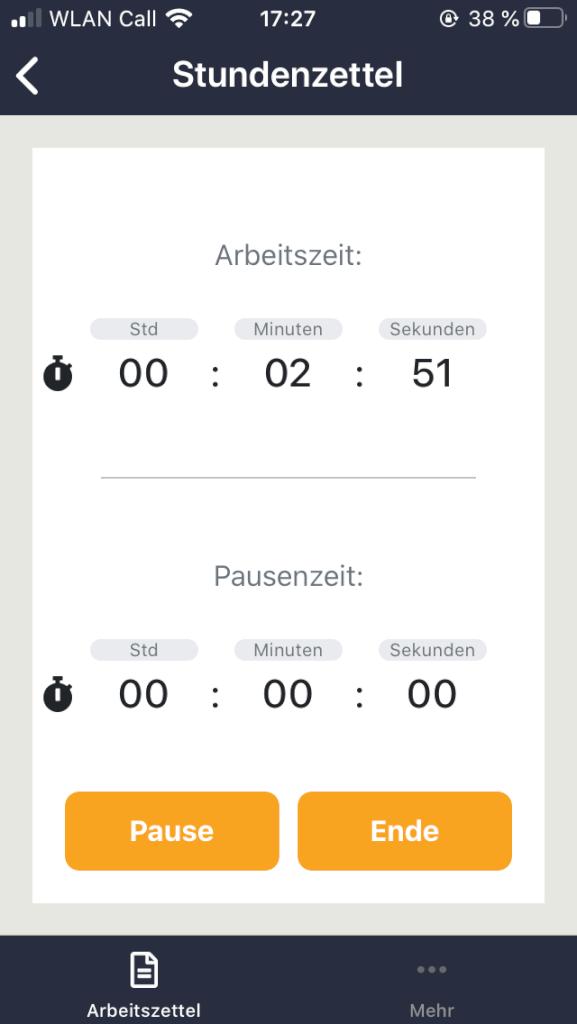 Digitaler Stundenzettel in der CRAFTBOXX