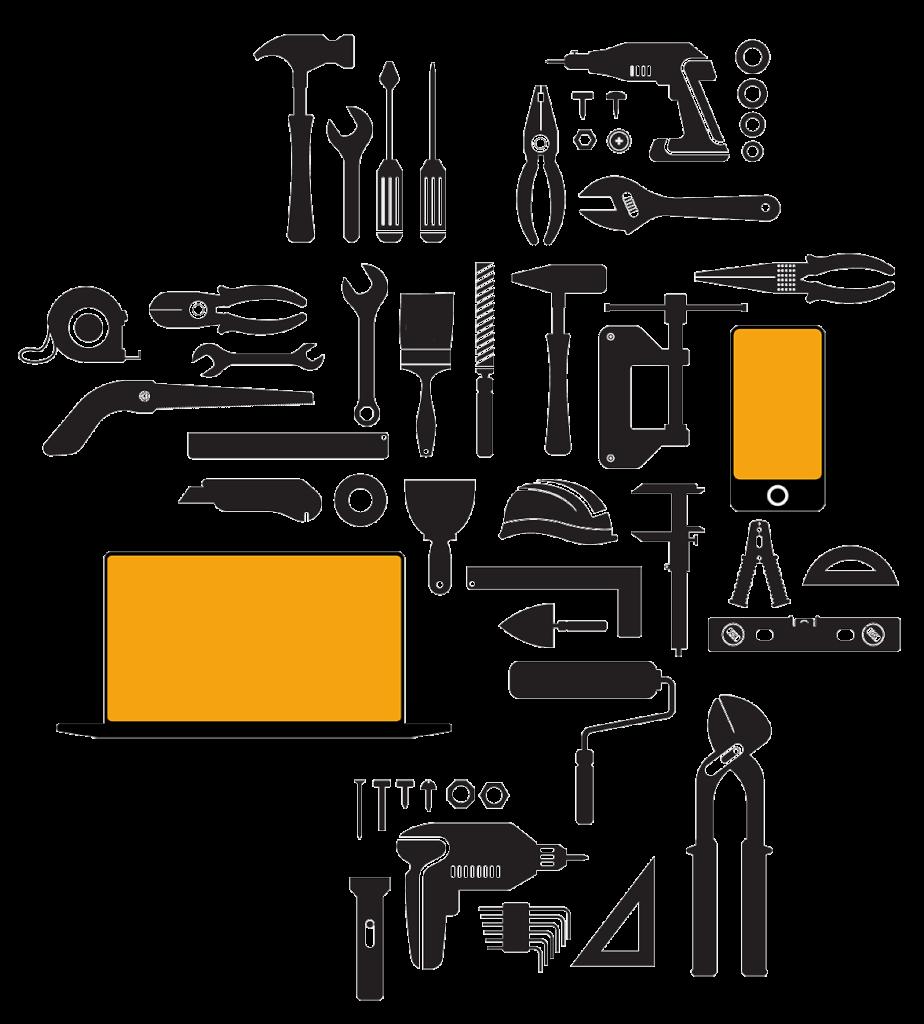 Illustration von Werkzeugen