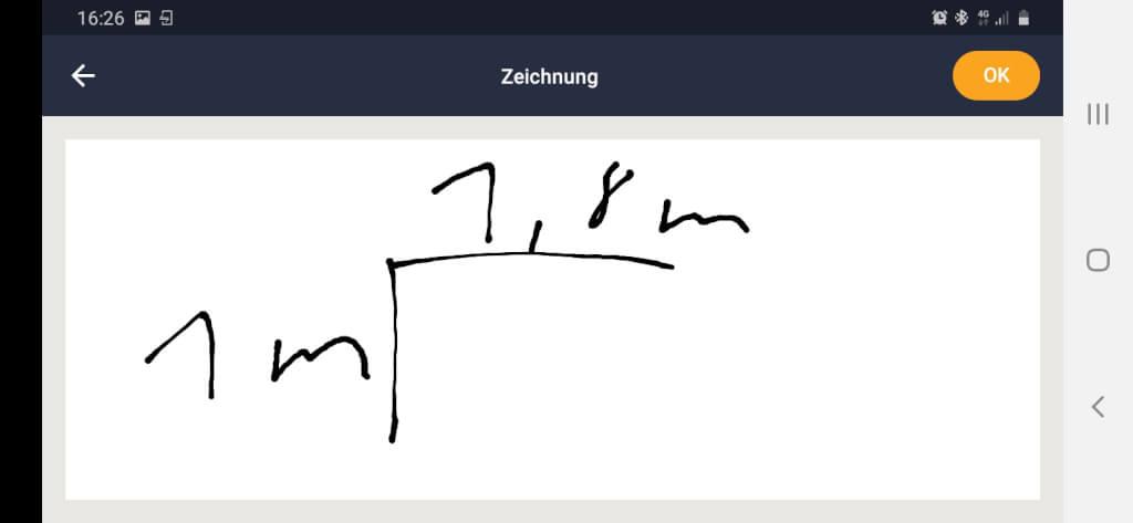 Beispiel Skizze / Zeichnung Baudokumentation