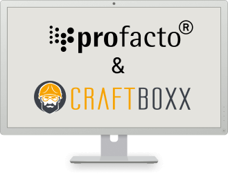 Die Craftboxx und profacto gemeinsam nutzen