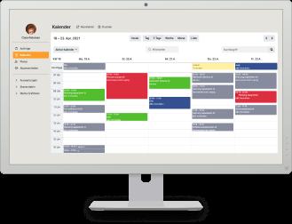 Bildschirm mit Craftboxx Kalender
