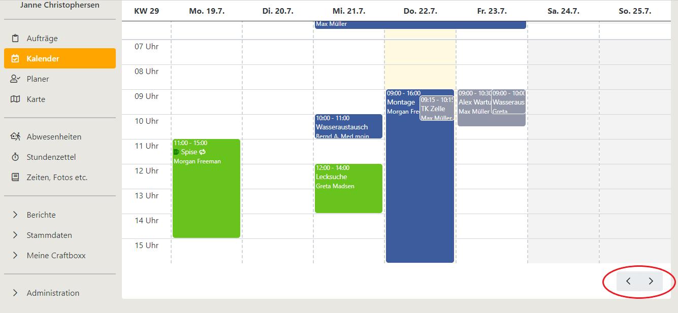 pfeile kalender
