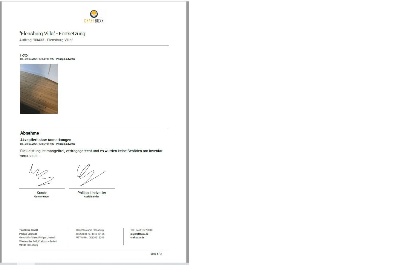 pdf datei aus export