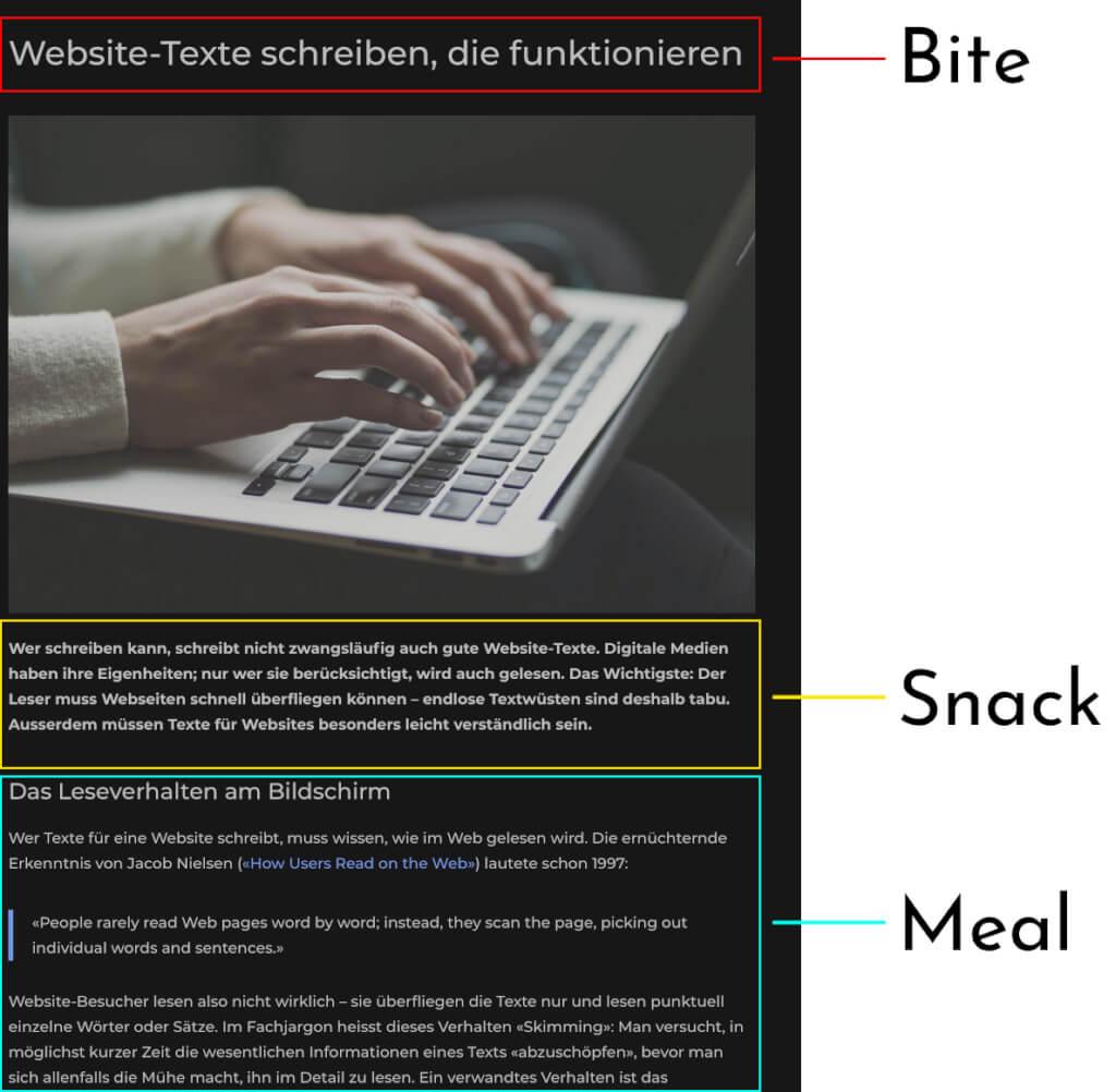 Bite Snack Meal Beispiel 1