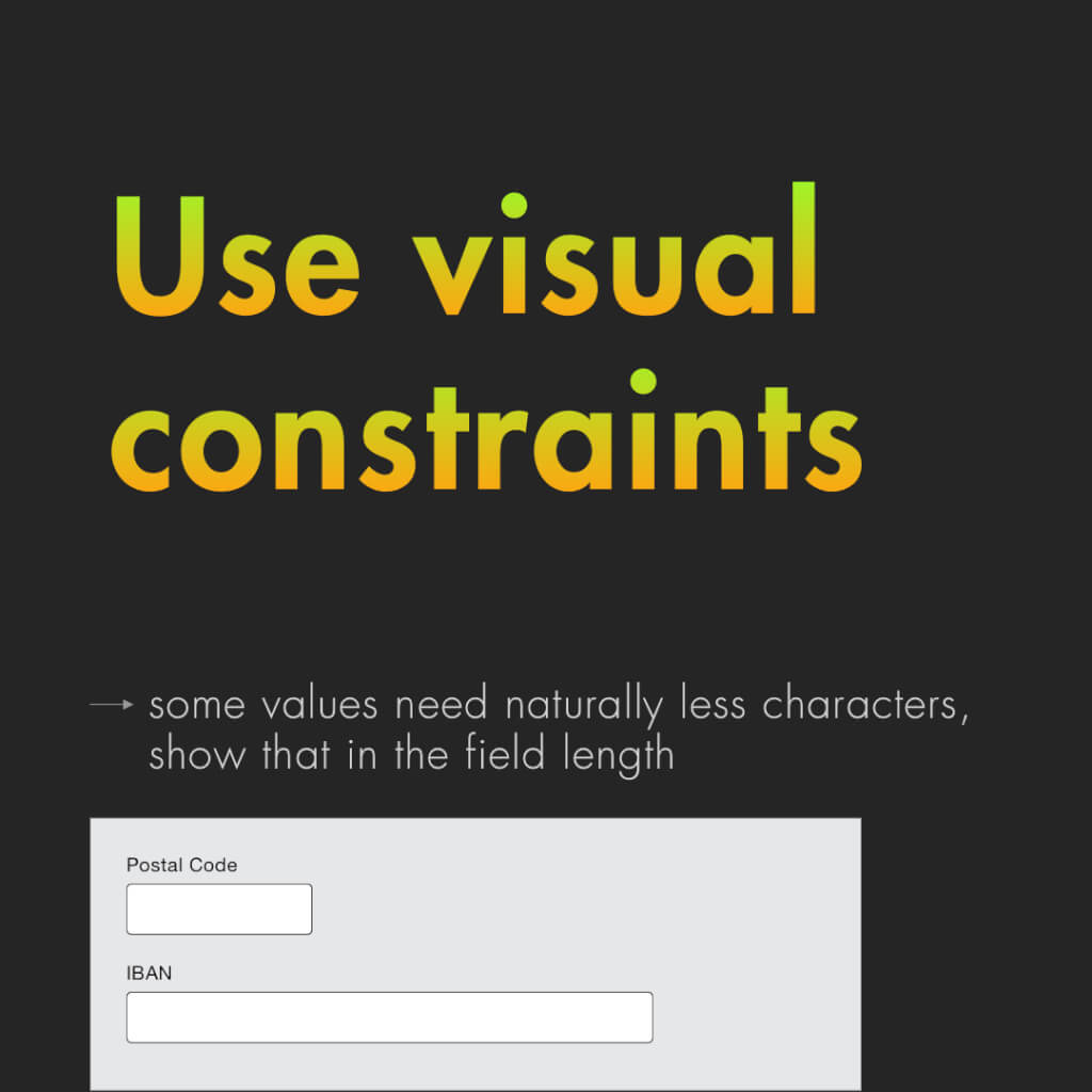 """Achte Slide mit dem Titel: """"Use visual constraints"""""""