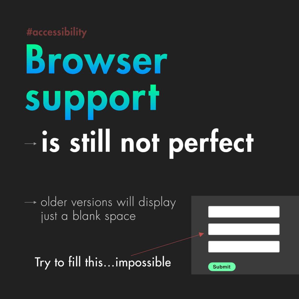 """Vierte Slide mit dem Titel: """"Browser support"""""""