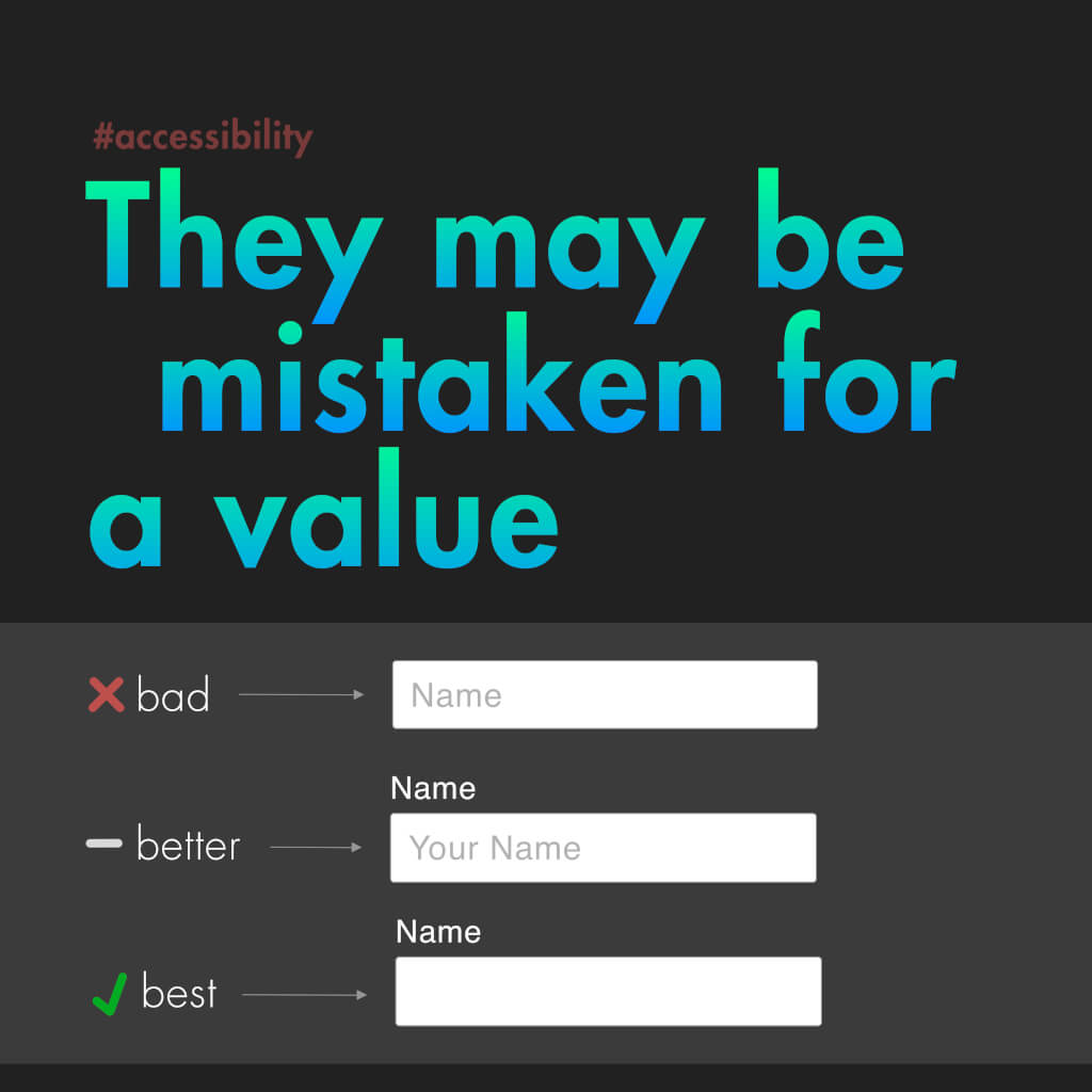 """Siebte Slide mit dem Titel: """"They may be mistaken for a value"""""""