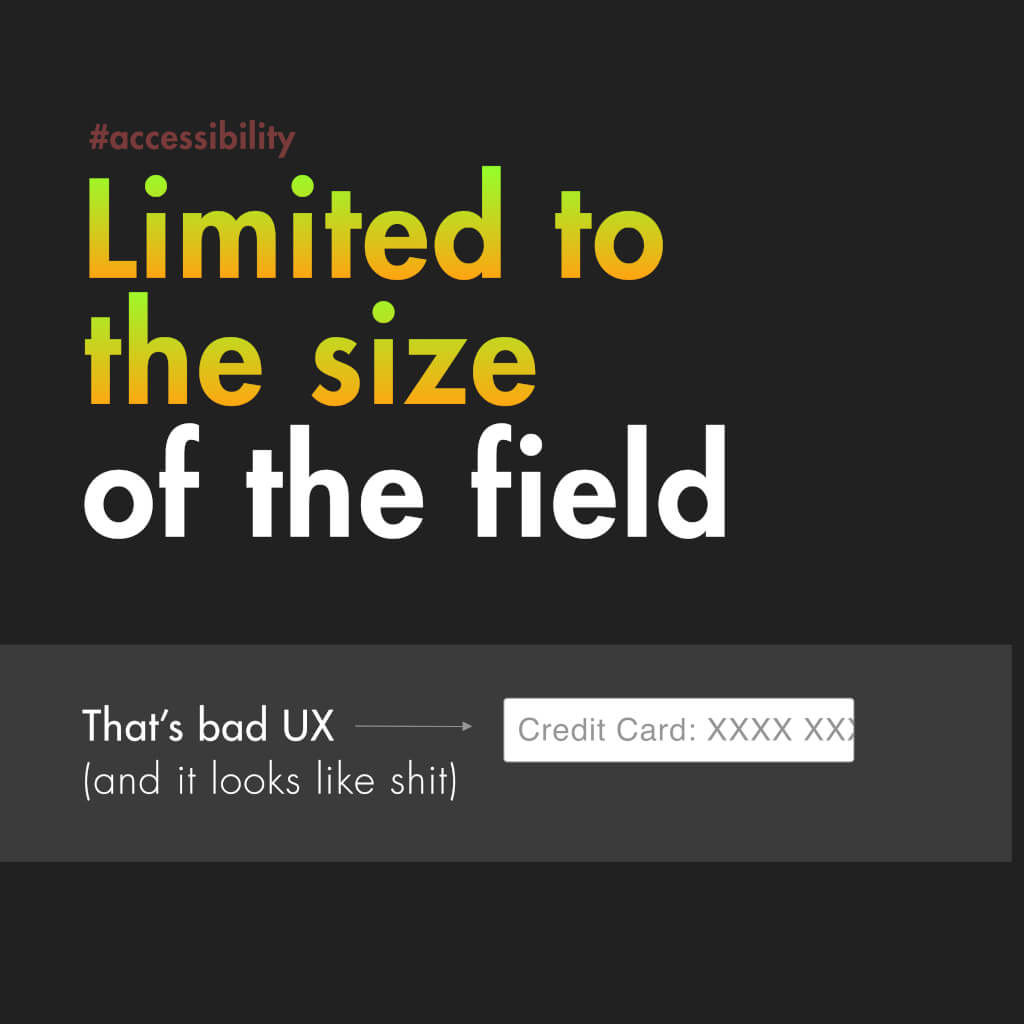 """Neunte Slide mit dem Titel: """"Limited to the size of the field"""""""