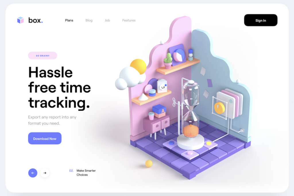 Webdesign Trends 2020 Fullscreen Hero Illustrationen
