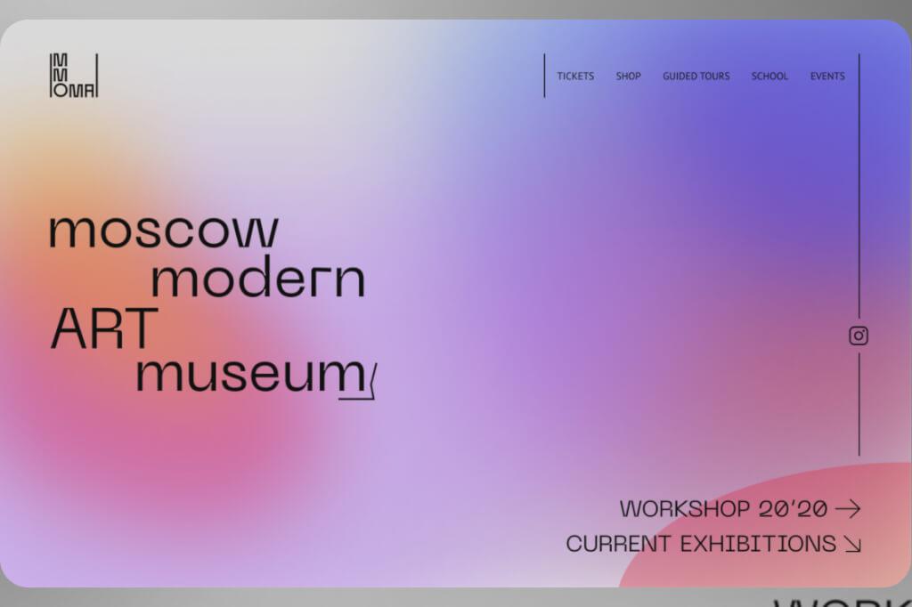 Webdesign Trends 2020 Glassmorphism