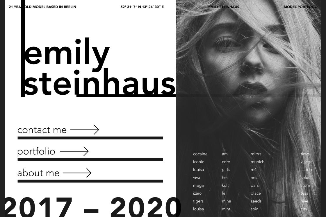 Webdesign Trends 2020 Typographie basierende Layouts