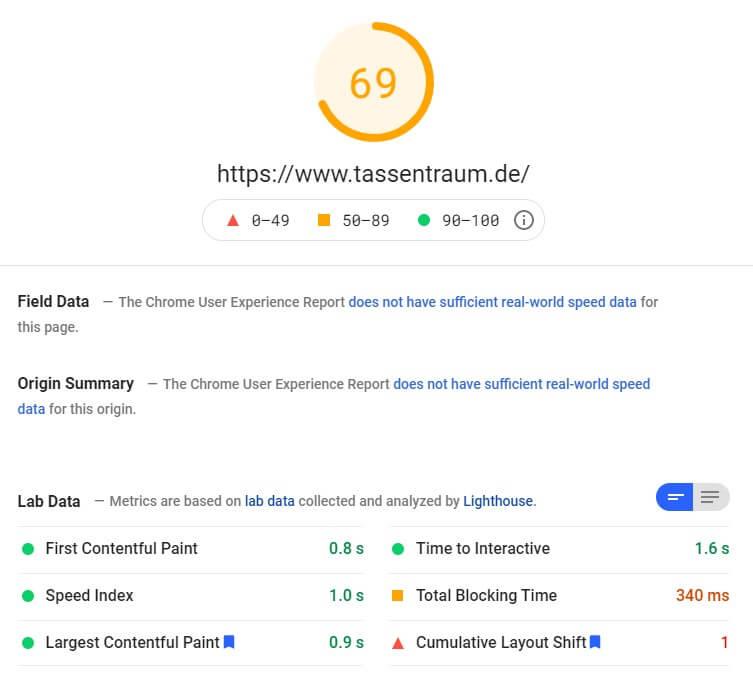Tassentraum Shop Review SEO