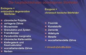 Störfelder als Gesundheitsrisiko
