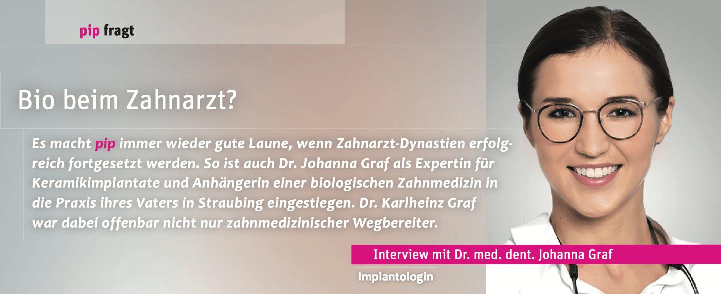 Beitragsbild Bio beim Zahnarzt - Interview mit Dr. Johanna Graf