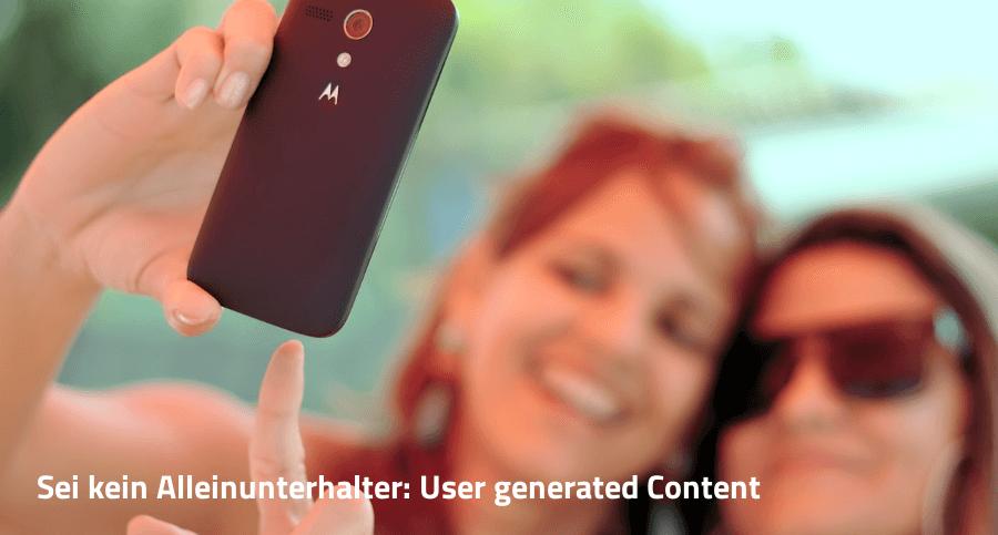 Selfie User generated Content