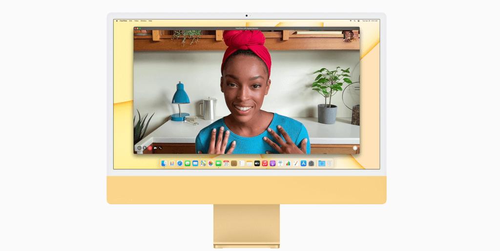 Kunterbunt zum dritten: Der neue iMac kommt auch in diesem, sagen wir mal Retro-Gelb. (Bild: Apple)