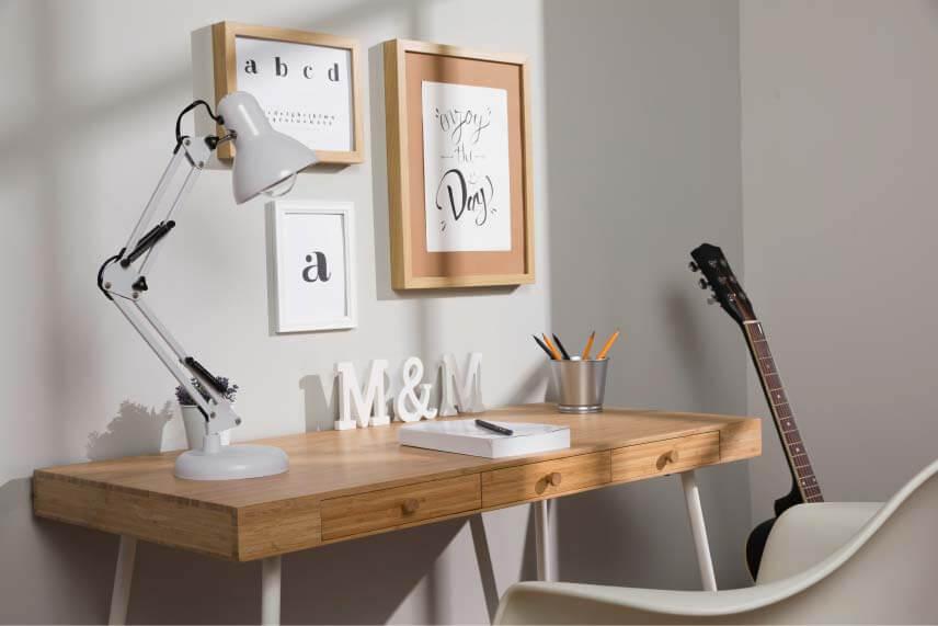 Saubere Lernumgebung und Schreibtisch