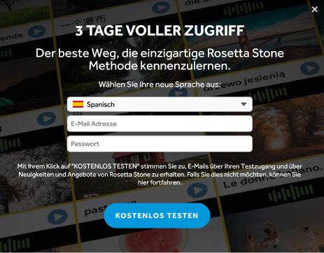 3 Tage kostenlos Rosetta Stone