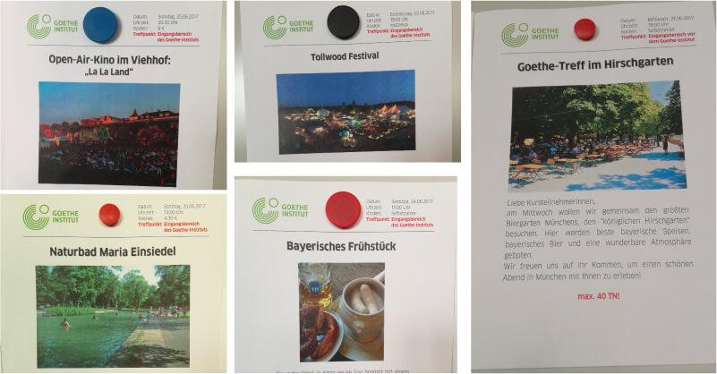 Activities in Goethe Institute Munich
