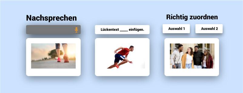Aufgaben bei Rosetta Stone App Konzept