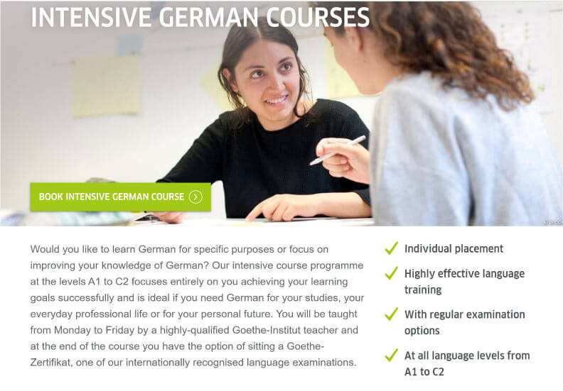 Intensive German Course at Goethe 1