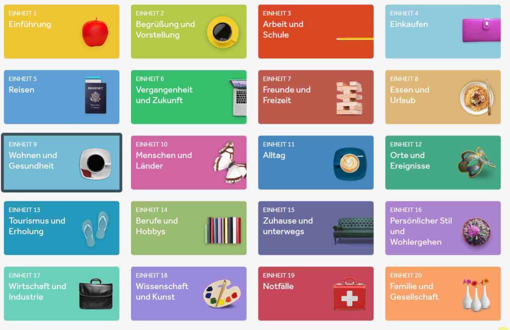Rosetta Stone Kategorien