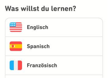 3 Sprachen bei Duolingo