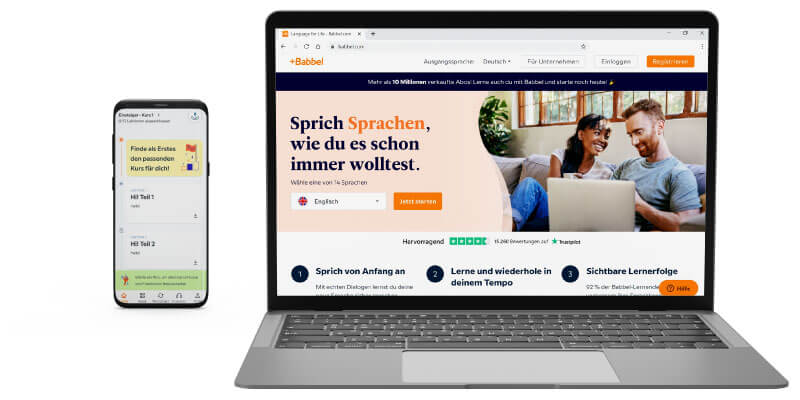 Babbel als Duolingo Alternative