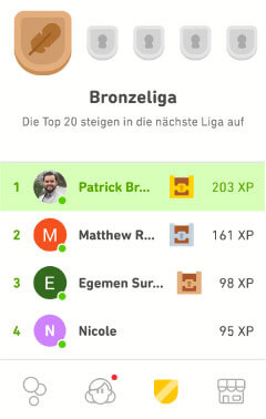 Bronzeliga Duolingo