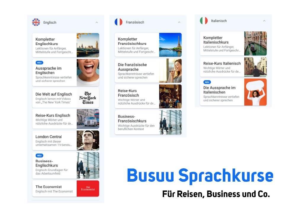 Busuu Sprachkurse Business Reisen