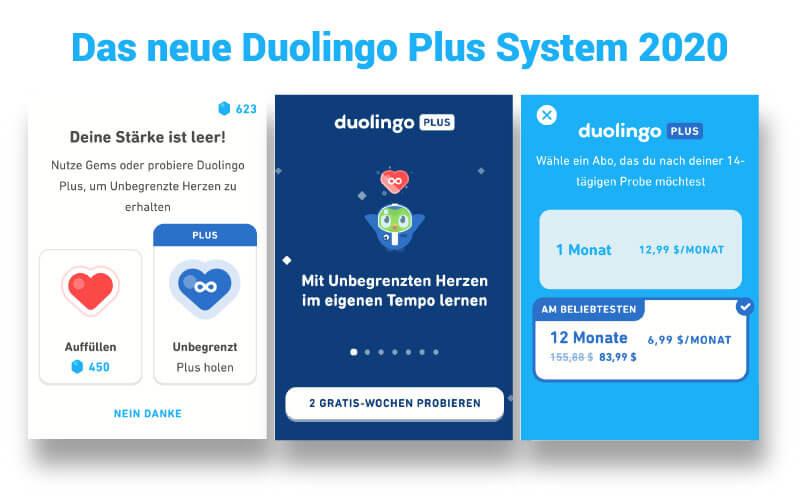 Das neue Duolingo Plus System 2020