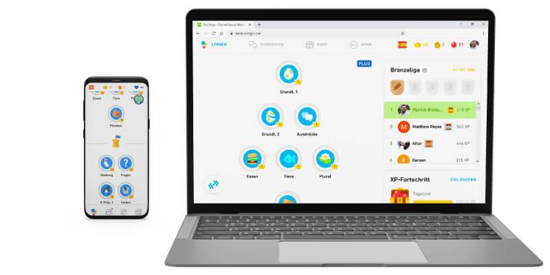 Duolingo Plus zum Englisch verbessern