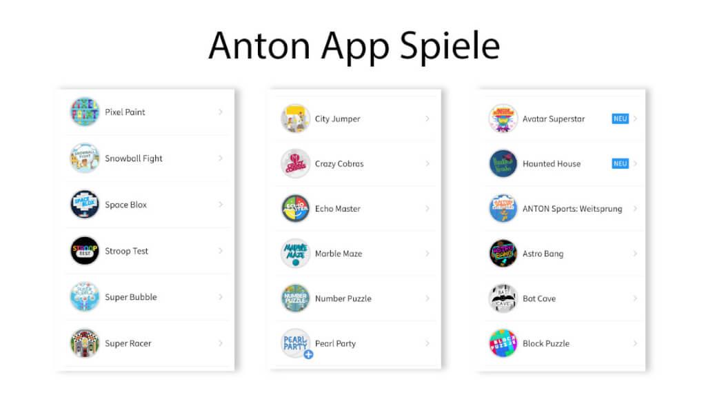 Anton App Spiele