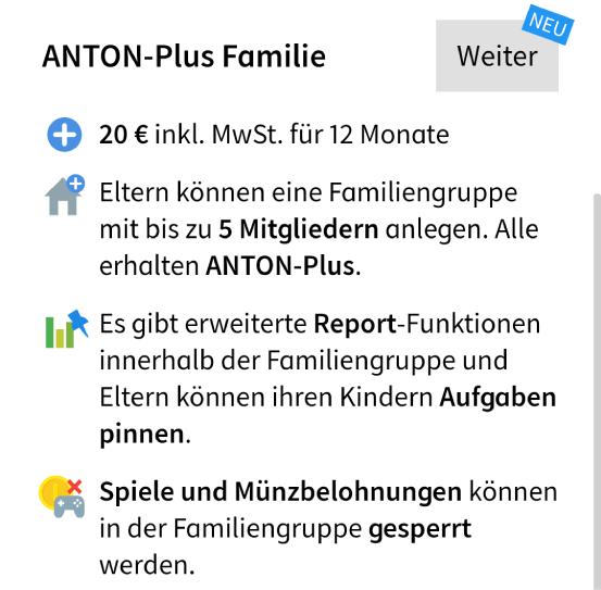 Anton Plus fuer Familien