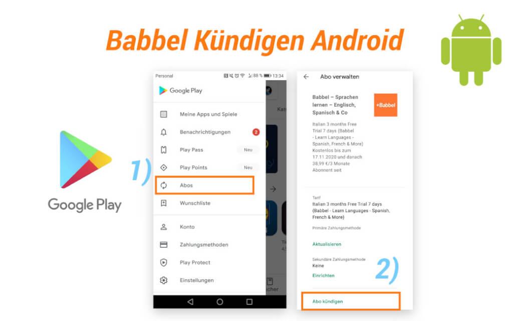 Babbel Kuendigen Android