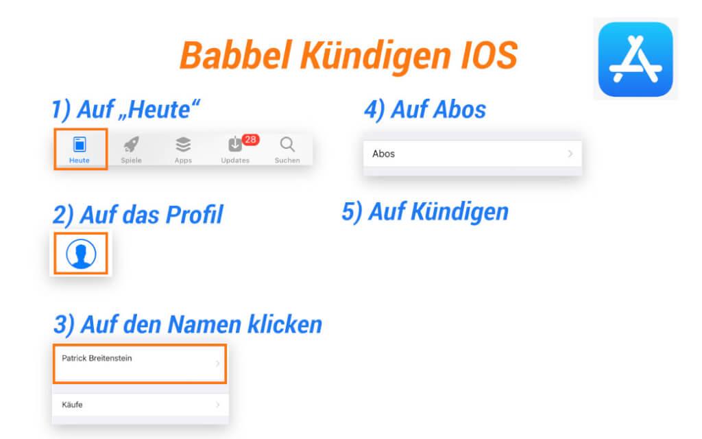Babbel Kuendigen IOS