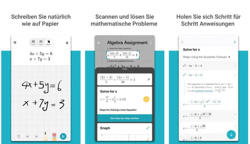 Microsoft Math Solver als Photomath Alternative