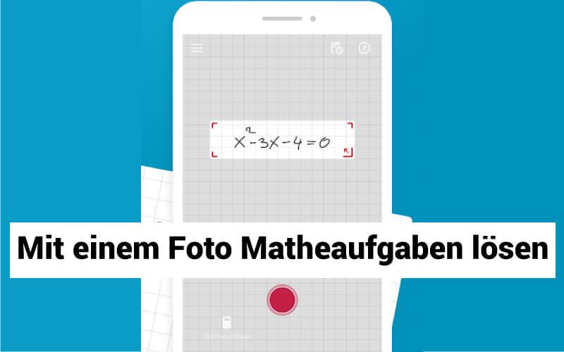 Photomath Matheaufgaben loesen