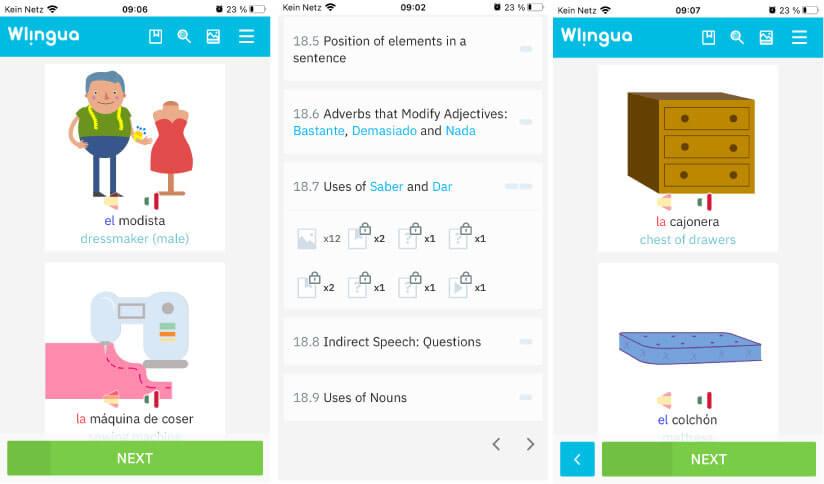 WLingua als kostenlose Babbel Alternative