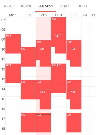 Kalender bei Studo