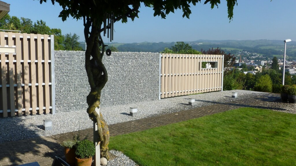 Holz Sichtschutz Wand 5