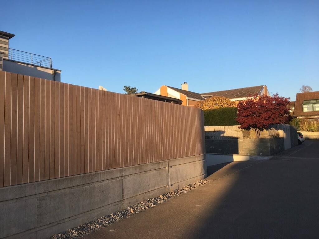 Holz Sichtschutz Wand 6