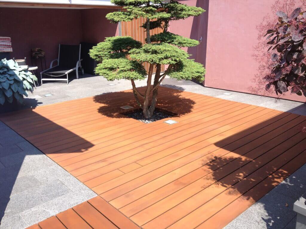 Terrasse Holz und Stein kombinieren3