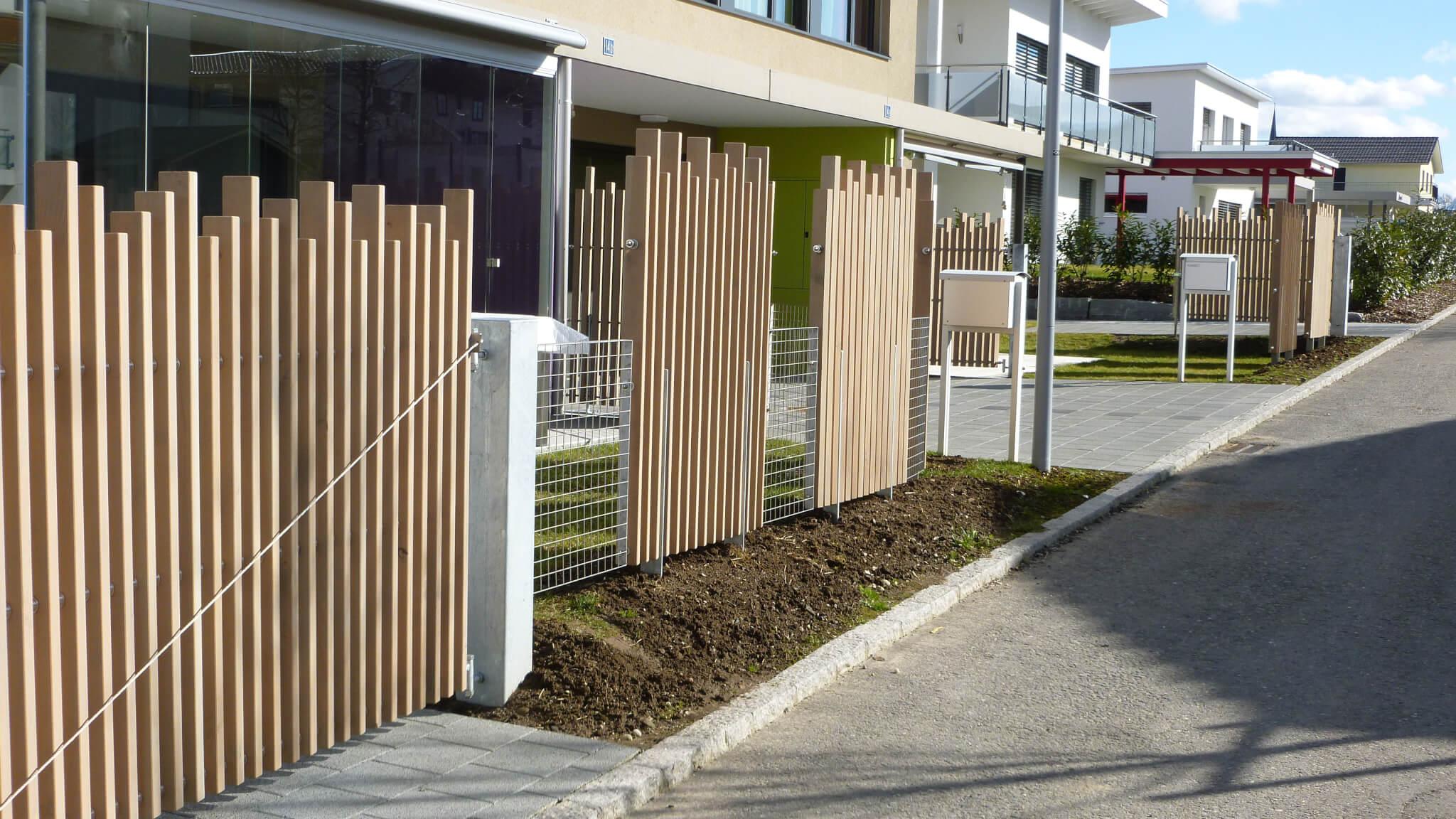 Holz Sichtschutzwand