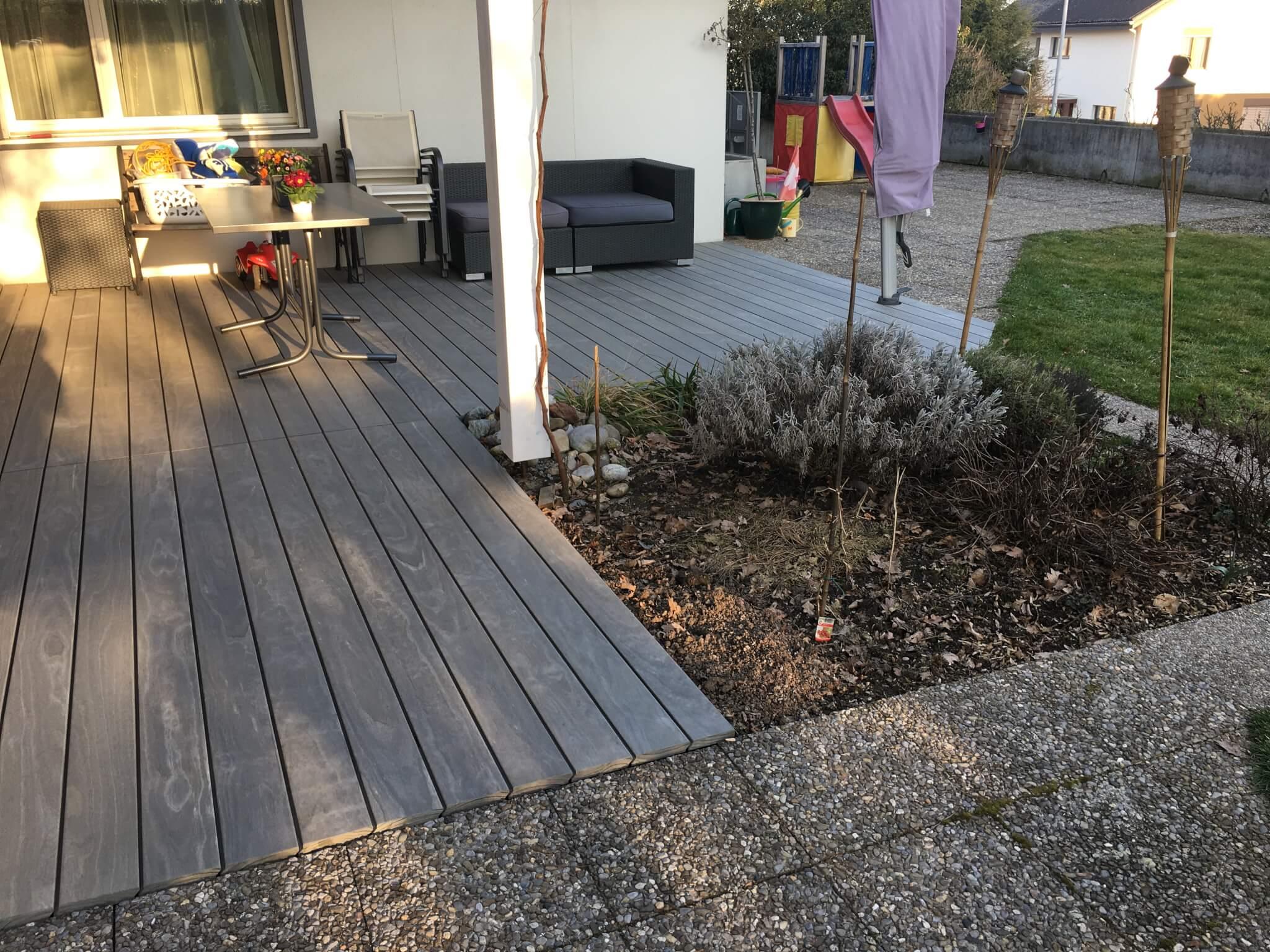 Accoya vorvergraut Holzterrasse 1