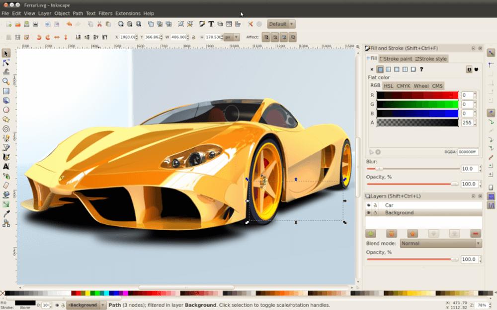 inkscape 0.48 ferrari 768x480