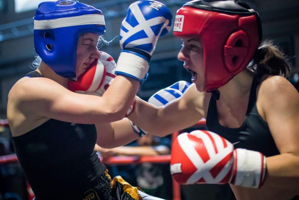Muay Thai Kampf von Gina La Mela