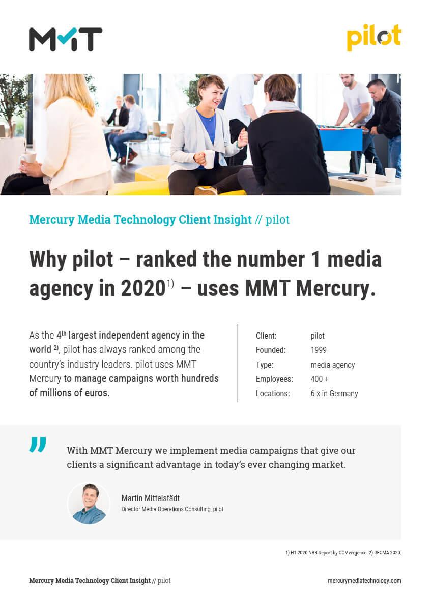 Why pilot uses MMT Mercury